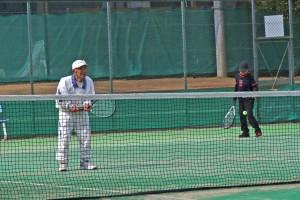 今年も元気に参加された90歳テニスプレイアー(久保田護さん)