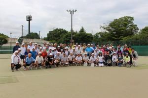 第65回茨城県シニアテニス大会(夏季大会)集合写真